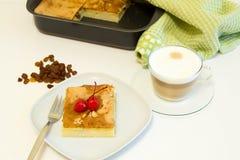 Stuk van pastei en koffie Royalty-vrije Stock Afbeeldingen