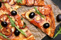 Stuk van Pizza Stock Fotografie