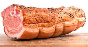Stuk van smakelijke ham Royalty-vrije Stock Foto's