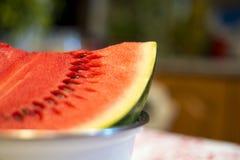 Stuk van watermeloen Royalty-vrije Stock Afbeeldingen
