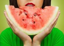 Stuk van watermeloen Stock Foto