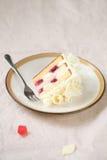 Stuk van Wit Forest Cake Stock Afbeeldingen