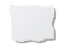 Stuk van wit karton Stock Afbeeldingen
