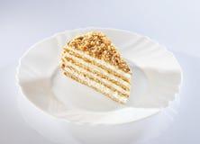 Stuk van Zoete cake Royalty-vrije Stock Foto's