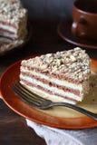 Stuk van Zoete cake Royalty-vrije Stock Fotografie