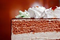 Stuk van Zoete cake Royalty-vrije Stock Afbeeldingen
