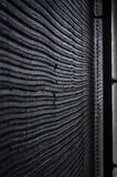 Stuk van zwarte muur Royalty-vrije Stock Foto's