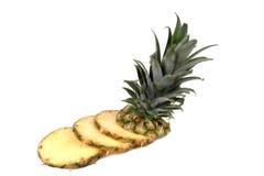 Stukken 2 van de ananas stock afbeelding
