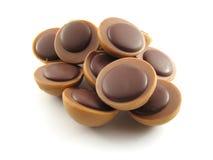 Stukken chocoladekoekjes Stock Afbeelding
