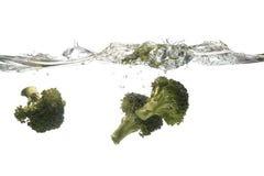Het bespatten van broccoli Royalty-vrije Stock Afbeeldingen