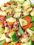 Stukken groenten royalty-vrije stock foto