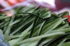 Stukken komkommers Stock Foto