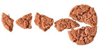 Stukken kruimelige koekjes royalty-vrije stock foto