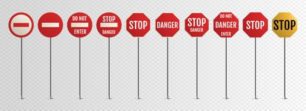 133 stukken Lege waarschuwing, gevaar vector illustratie