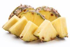 Stukken van ananas. Stock Foto's