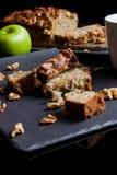 Stukken van appeltaart met appel en pastei van kant Royalty-vrije Stock Afbeelding