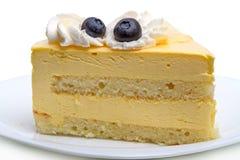 Stukken van cake met bosbessen Stock Foto's