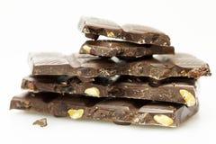 Stukken van chocolade Stock Afbeelding