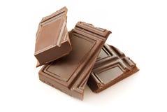 Stukken van chocolade Royalty-vrije Stock Fotografie