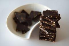 Stukken van chocolade royalty-vrije stock afbeelding