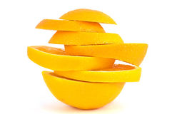 Stukken van de sinaasappel. Stock Foto's