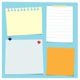 Stukken van Document stock illustratie