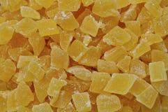 Stukken van droge ananas Stock Fotografie