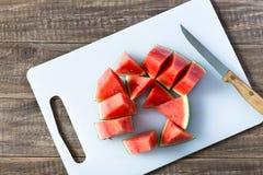 Stukken van een watermeloen Stock Afbeeldingen