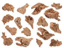 Stukken van gebraden lam met kruidige saus Stock Foto