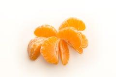 Stukken van gepelde mandarijn Stock Foto's