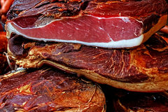 Stukken van gerookt varkensvlees bacon-3 Stock Fotografie