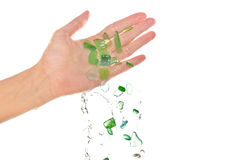Stukken van glas Stock Afbeelding