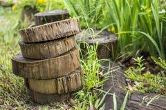 Stukken van hout stock afbeelding