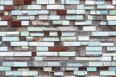 Stukken van houten achtergrond Stock Foto
