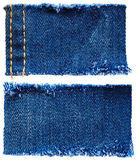 Stukken van jeansstof stock afbeelding