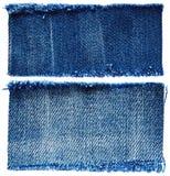 Stukken van jeansstof royalty-vrije stock afbeelding