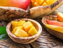 Stukken van mangofruit Stock Fotografie
