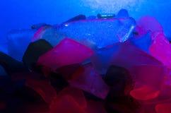 Stukken van overzees glas Stock Foto