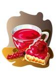Stukken van pastei en bes - illustratie Royalty-vrije Stock Foto