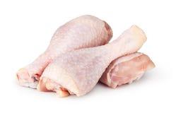 Stukken van ruw kippenvlees Stock Foto's