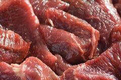 Stukken van ruw vlees. stock fotografie