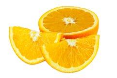 Stukken van sinaasappel Stock Foto's