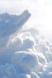 Stukken van sneeuw Royalty-vrije Stock Afbeeldingen
