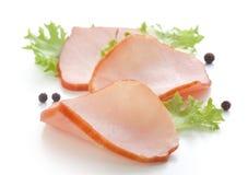 Stukken van varkensvleeslendestuk Stock Foto