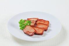 Stukken van zout varkensvlees Royalty-vrije Stock Fotografie