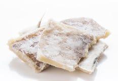 Stukken van zoute kabeljauw royalty-vrije stock foto