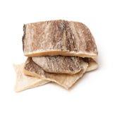 Stukken zoute kabeljauwvissen Royalty-vrije Stock Fotografie