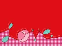stuknięta różowego linii miłości w kratkę? Obrazy Stock