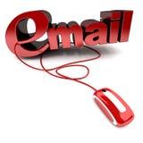 stuknięcie email Zdjęcia Stock