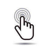Stuknięcie ręki ikona Kursoru palca znaka mieszkania wektor